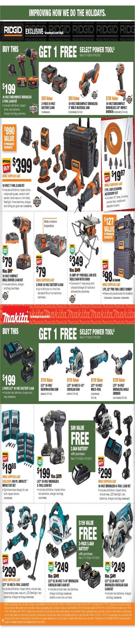 Home Depot Black Friday 2020 Milwaukee Tools Home Depot S Ryobi Early Black Friday Sale Takes Up 35 Off Tools More 9to5toys