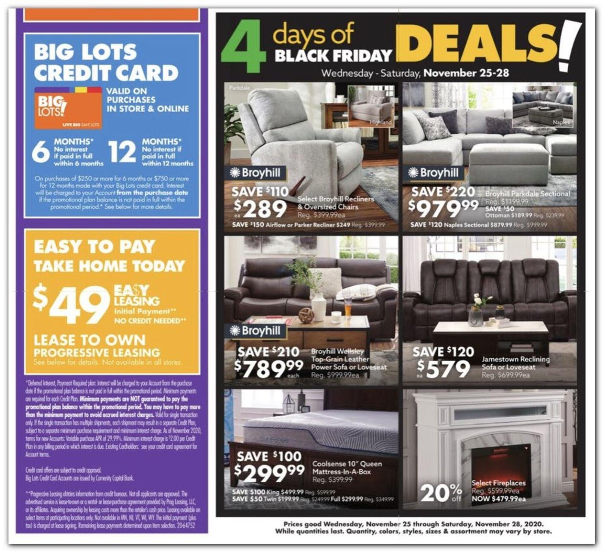 Big Lots Black Friday 2020 Ad Deals Brad S Deals