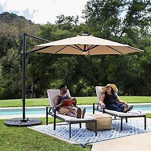 8b2c3c4da2 LED Patio Umbrella + Stand $185 Shipped