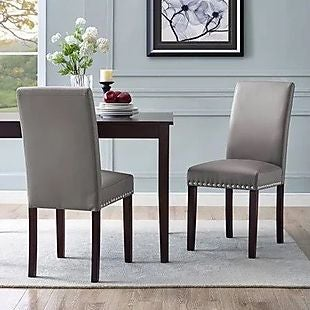 Magnificent 2Pk Nailhead Dining Chairs 73 Shipped Gmtry Best Dining Table And Chair Ideas Images Gmtryco