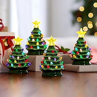 Qvc Christmas Trees.Set Of 4 Mini Christmas Trees 30 Shipped